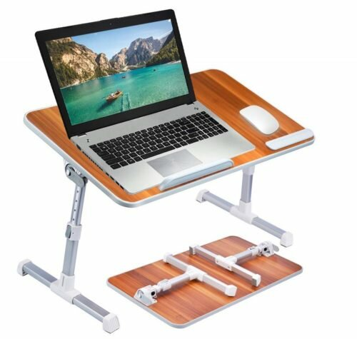 2. Neetto TB101L Adjustable Laptop Bed Table, Portable Standing Desk, Foldable Sofa Breakfast Tray