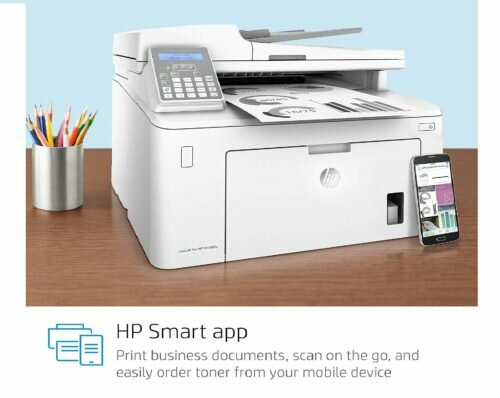 6.HP Laserjet Pro M148fdw All-in-One Wireless Monochrome Laser Printer with Auto Two-Sided Printing, Mobile Printing, Fax & Built-in Ethernet (4PA42A)