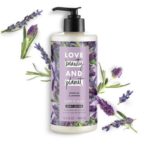 10.Love Beauty And Planet Body Lotion Argan Oil and Lavender 13.5 oz