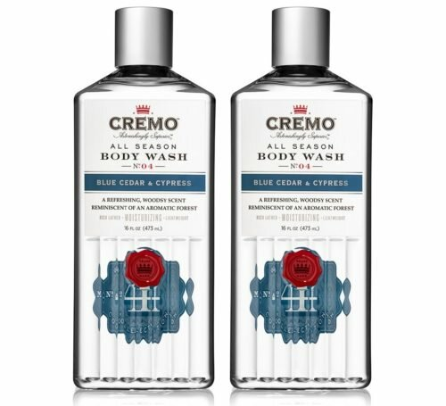 4.Cremo All Season Body Wash, Blue Cedar & Cypress, 16 Ounce, 2-pack - Rich, Powerful Fragrance of Refreshing Blue Cedar Wood
