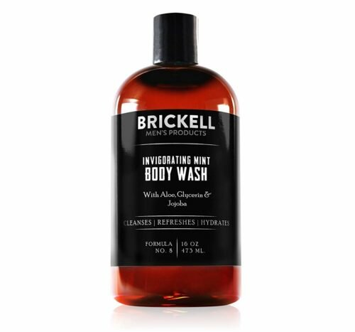 5.Brickell Men's Invigorating Mint Body Wash for Men, Natural and Organic Deep Cleaning Shower Gel with Aloe, Glycerin, and Jojoba, Sulfate Free