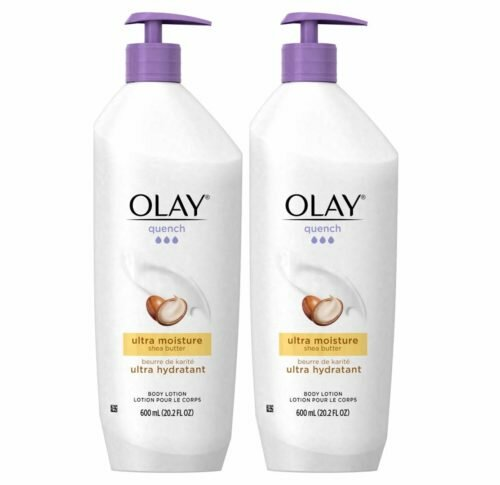 9.Olay Quench Body Lotion Ultra Moisture with Shea Butter and Vitamins E and B3, 20.2 oz (Pack of 2)