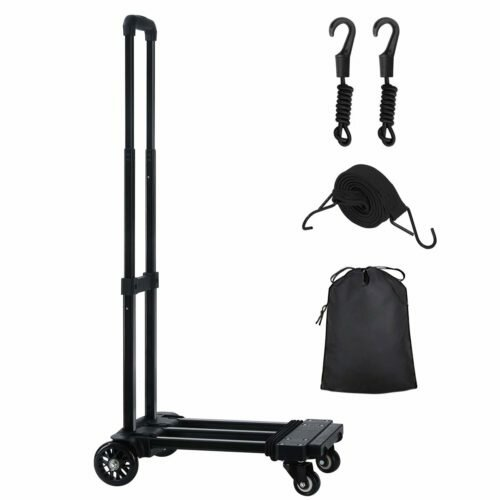 KEDSUM Folding Hand Truck, 155 lbs Heavy Duty Luggage Cart