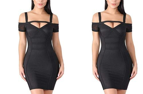 KAOUYOU Sexy Bodycon Bandage Dresses for Women Cocktail Party Clubwear