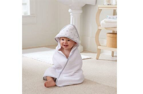 Aden by aden + anais Classic Hooded Baby Bath Towel, Super Soft 100% Cotton, 2 Pack, Denim Wash