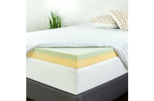 Zinus AZ-GTFT-400T 4 Inch Green Tea Memory Foam Mattress Topper