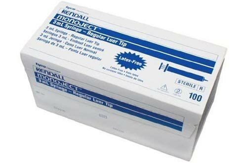 Kendall/Covidien - Monoject Sterile General Purpose 3mL Syringes Regular Tip Without Needle in Rigid Hard Pack