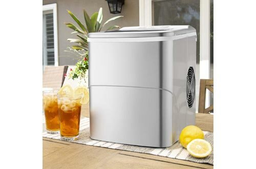 Antartic Star Countertop Portable Ice Maker Machine, 9 Ice Cubes Ready in 8 Minutes,Makes 26 lbs of Ice per 24 hours,with LCD Display, Ice Scoop and Basket Perfect for Parties Mixed Drinks